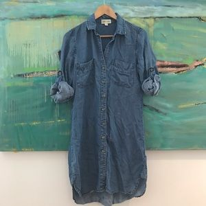 Anthropology Cloth and Stone Denim Chambray Dress